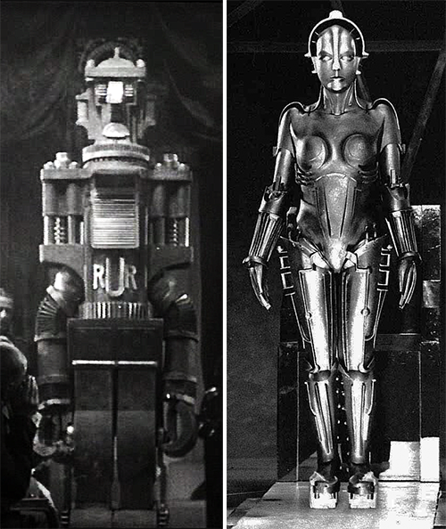 Maria from Metropolis is a much more elegant robot that the Soviet RUR