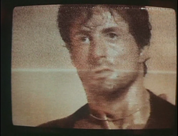 Stallone through a Soviet TV screen