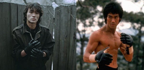 Tsoi was a huge fan of Bruce Lee, and as some of his contemporaries testify, would spend hours in front of a VHS player, watching bootleg copies of Bruce Lee's films, rewinding back to the best bits and mimicking the actor's movements and combat manoeuvres.
